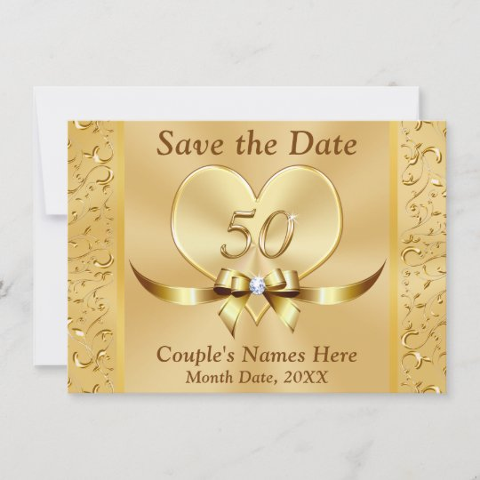 personalized 50th anniversary save