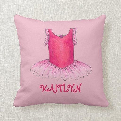 Personalized Ballet Dancer Ballerina Tutu Pillow  Zazzle