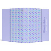 Personalized: Berry Polka Dot Binder 2
