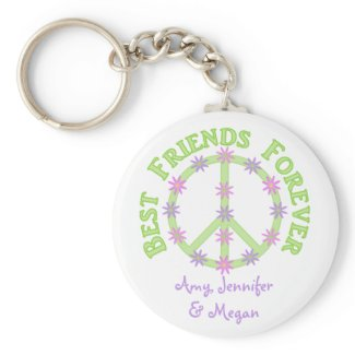 Personalized Best Friends Forever Keychain keychain