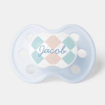 Personalized Blue Binky Pacifier