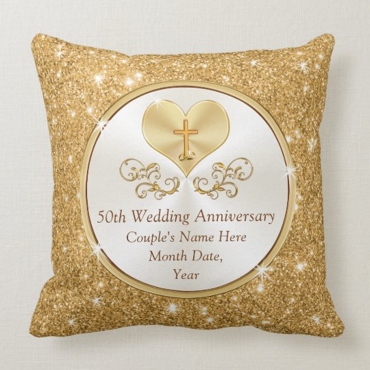 personalized christian 50th anniversary