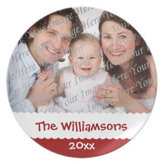 Personalized Christmas Custom Photo Plate