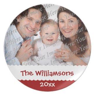 Personalized Christmas Custom Photo Plate