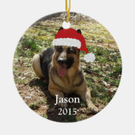 Personalized Christmas German Shepherd Ornament
