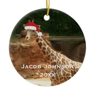 Personalized Christmas Giraffe Ornament