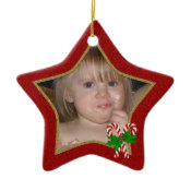 Personalized Christmas Star Ornament ornament