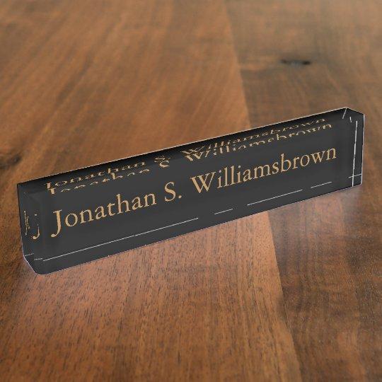 Personalized Custom Monogram Desk Name Plate  Zazzlecom