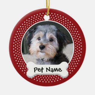 Personalized Dog Photo Frame - SINGLE-SIDED Christmas Ornaments