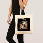 Personalized Dog Photo Tote Bag