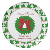 Personalized Family: Christmas Wreath Plate plate