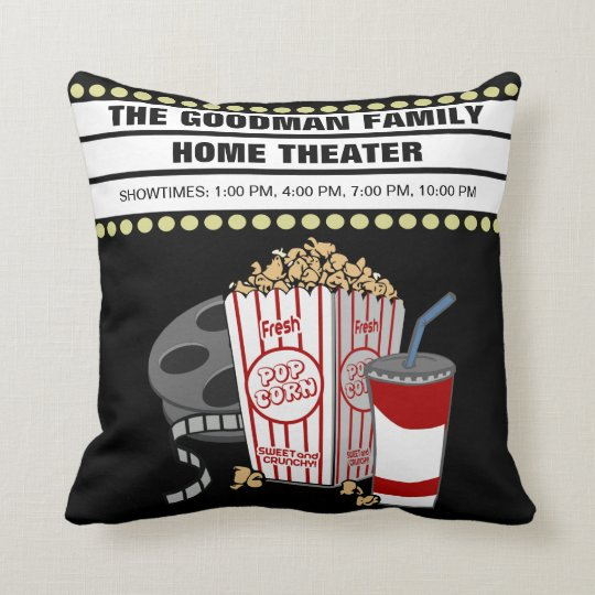 Personalized Family Home Movie Theater Customized Throw