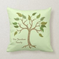 Personalized Family Tree Pillow | Zazzle