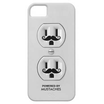 Personalized Funny Mustache Power Outlet iPhone SE/5/5s Case