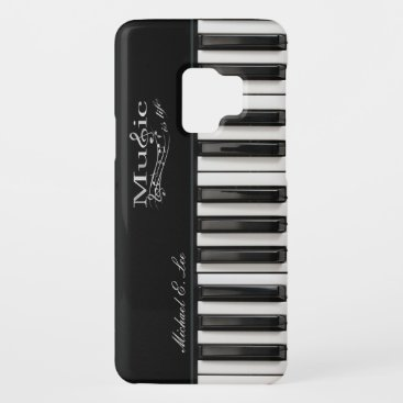 Personalized Glossy Piano Keys Case-Mate Samsung Galaxy S9 Case
