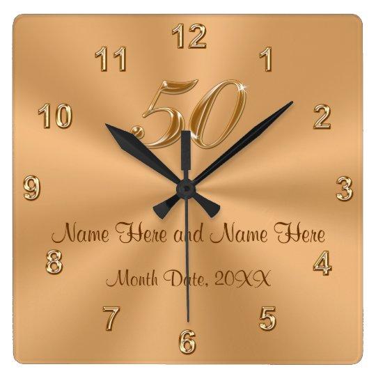 personalized golden wedding anniversary