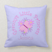 Personalized: Grannys Little Princess throwpillow