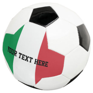 personalized italian flag soccer