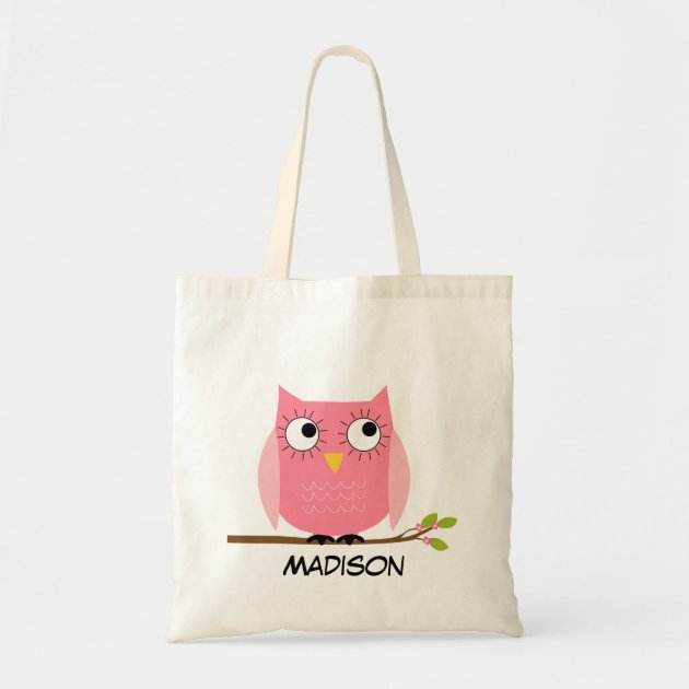 personalized kids pink owl