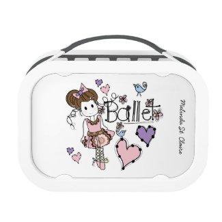 Personalized Love Ballet Lunch Boxr Lunchbox