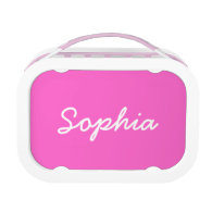 Personalized lunch box for girls | Pink