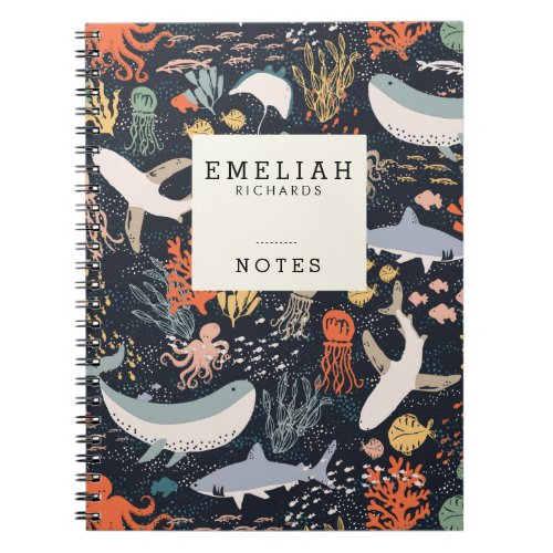 Personalized | Marine Life Notebook