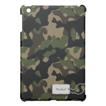 Personalized Military Camouflage iPad Mini Case
