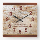 Personalized Name and Monogram Wall Clock for Men