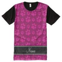 Pink Paw Prints T-Shirts & Shirt Designs | Zazzle