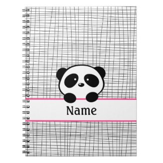 Personalized Panda Notebook