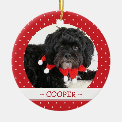 Personalized Pet Photo Christmas Ornament