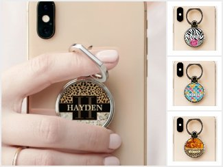 Personalized Phone Grip Ring Stand