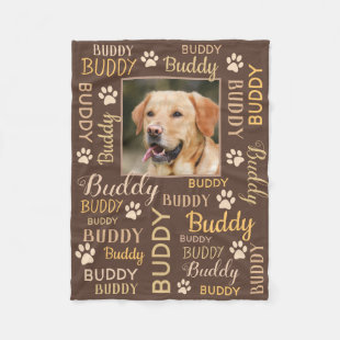 Personalized Photo Names | Brown Dog Blanket