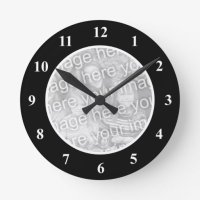 Personalized photo wall clock for baby picture | Zazzle
