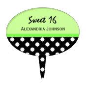 Personalized: Polkadot Sweet 16 Cake Pick