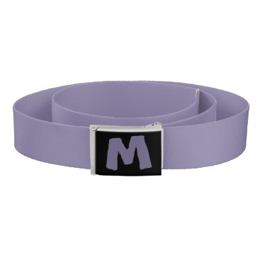 Personalized Purple Initial Cartoon Belt