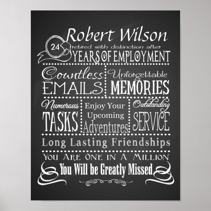 personalized retirement poster print zazzle com