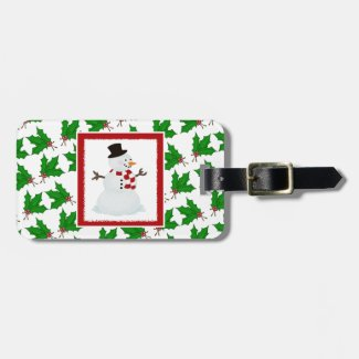 Personalized: Snowman Luggage Tag