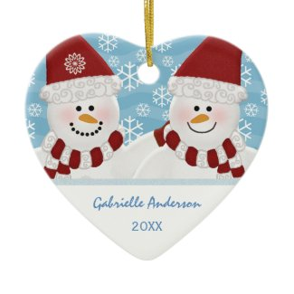 Personalized Snowman Ornament