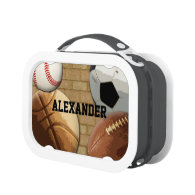 Personalized Sports Balls All-Star Lunchbox