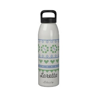 Personalized Water Bottle for Cross Stitchers