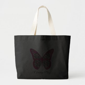 Personalized Zebra Print Butterfly Tote Bag bag