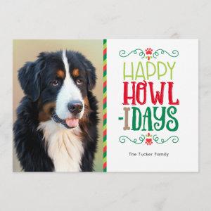 Pet Christmas Photo Card, Happy Howlidays Holiday Card