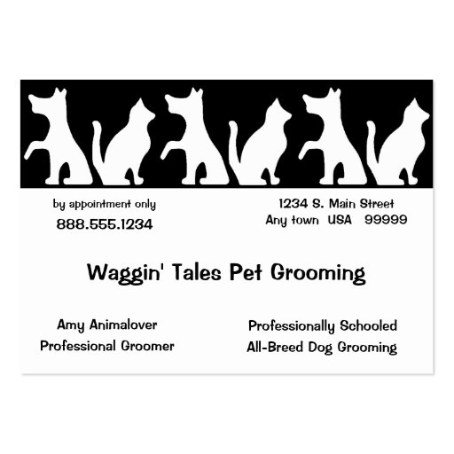 Pet Grooming Business And Appointment Card Large Business