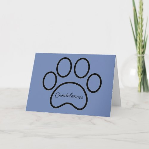 Pet loss, sympathy card, boy pet, cat, dog card