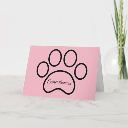 Pet loss, sympathy card, girl, pet, cat, dog card