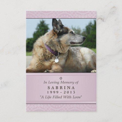 Pet Memorial Card 3.5
