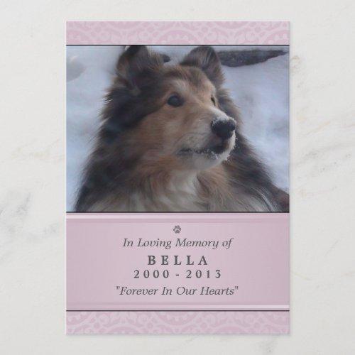 Pet Memorial Card 5