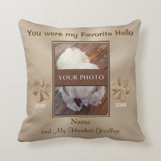 Pet Memorial Gifts Personalized Photo Pillow  Zazzlecom