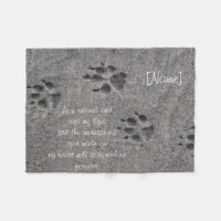 Pet Paws in Cement – Always There Fleece Blanket